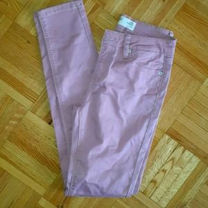 Pink skinny jeggings